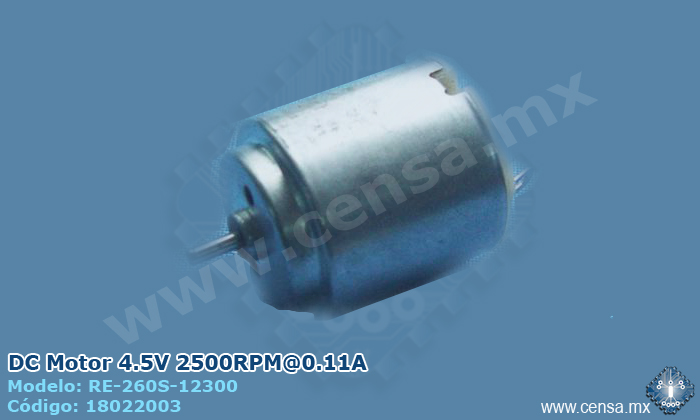RE-260S-12300 | DC Motor 4.5V 2500RPM@0.11A (18022003)
