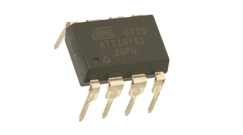 ATtiny85-20PU IC MCU 8BIT 8KB FLASH 8DIP