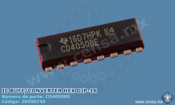 CD4050BE IC BUFF/CONVERTER HEX DIP-16