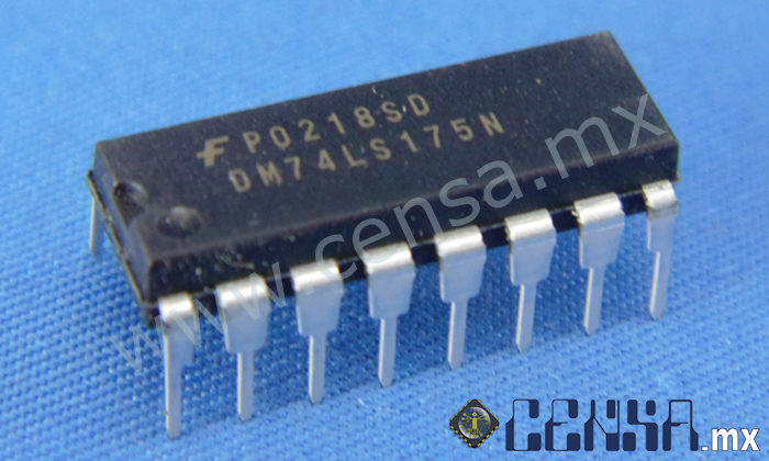 DM74LS175N IC Flip Flop Quad D-Type DIP-16