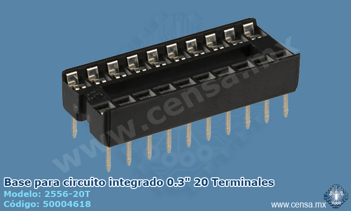 "2556-20T Base IC 0.3"" 20 Terminales"