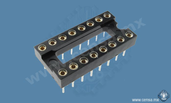 2558-16T Base IC Maquinada 16 pos. | 2558-16T | 2558 16T | 2558/16T
