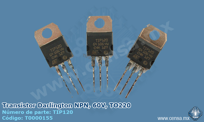 TIP120 Transistor Darlington NPN, 60V, TO220