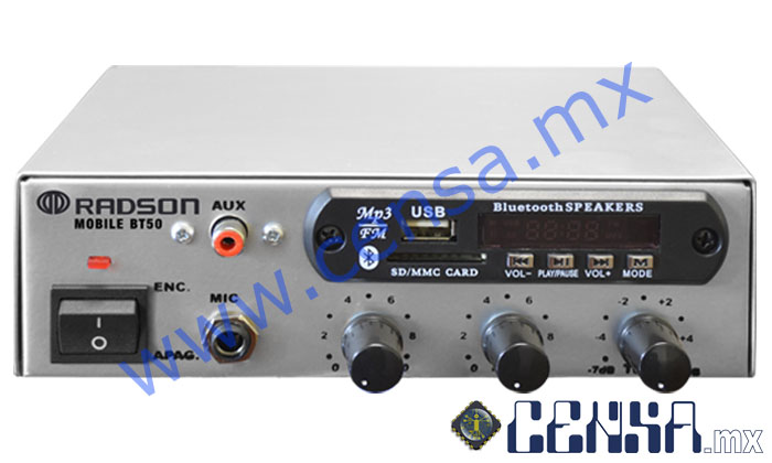 Mobile BT50 Amplificador de 35 Watts PMPO