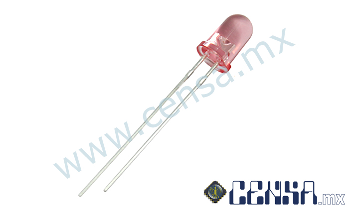 LED500PUHB LED ROSA DE ALTO BRILLO 5MM RODONDO