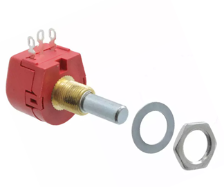TW1103KA | TW Series Wirewound Potentiometer with a 6.35 mm Dia. Shaft, 10kΩ, ±10%, 1W, ±100ppm/°C, Panel Mount (T0001205)