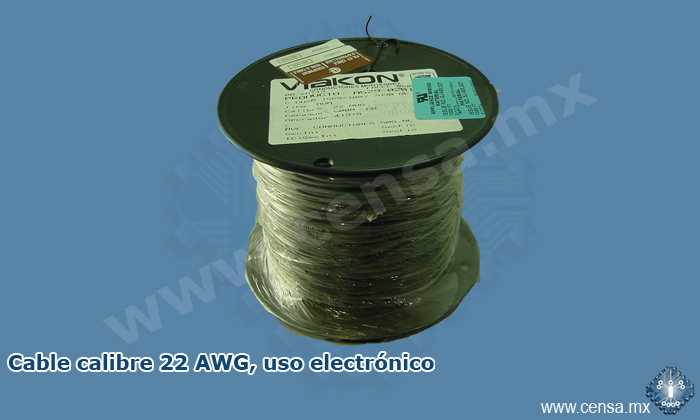 HUW-1015-22X7-06C CABLE CALIBRE 22 AZUL TENUE