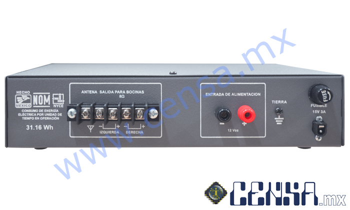 40·40 ST | Amplificador 40 watts x 2 canales (80 watts totales)