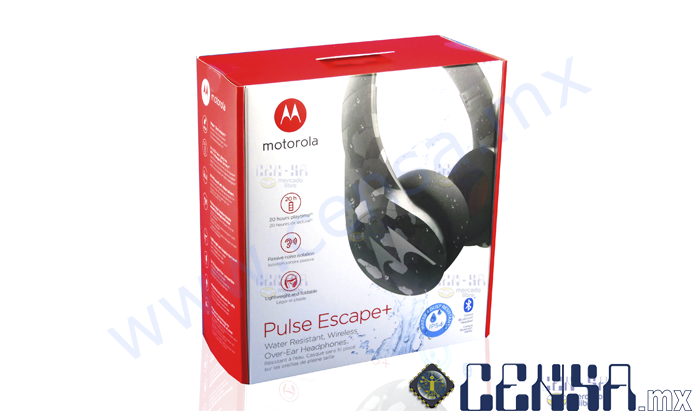SH013-CM | Pulse Escape + Audífonos Bluetooth Inalámbricos Motorola